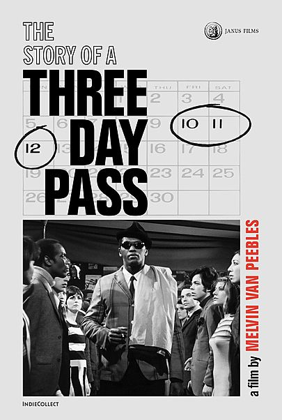 "Movie poster for ""THE STORY OF A THREE DAY PASS (4K RESTORATION)"""