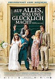 """Filmplakat für """"AUF ALLES, WAS UNS GLÜCKLICH MACHT - FILMSTART IN ÖSTERREICH"""""""