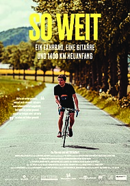 """Movie poster for """"SO WEIT - EIN FAHRRAD, EINE GITARRE UND 1400 KM NEUANFANG"""""""