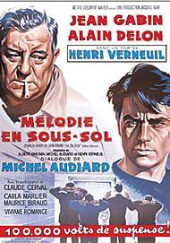 """Movie poster for """"MELODIE EN SOUS-SOL"""""""