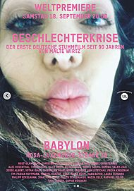 "Movie poster for ""GESCHLECHTERKRISE"""