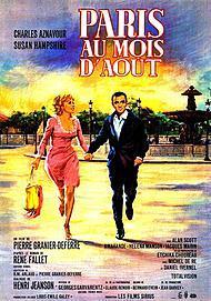 """Affiche du film """"PARIS AU MOIS D'AOUT"""""""
