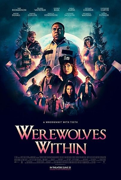 """Movie poster for """"WEREWOLVES WITHIN"""""""