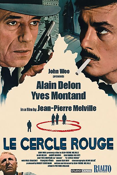 """Movie poster for """"LE CERCLE ROUGE"""""""