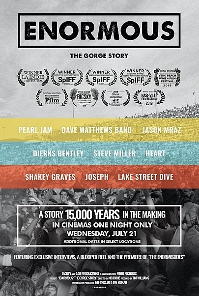 """Movie poster for """"ENORMOUS: THE GORGE STORY"""""""