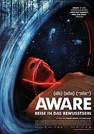 "Movie poster for ""AWARE - REISE IN DAS BEWUSSTSEIN"""