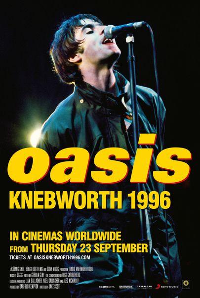 "Movie poster for ""OASIS KNEBWORTH 1996"""