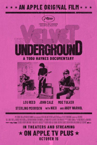 """Movie poster for """"THE VELVET UNDERGROUND"""""""