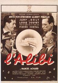"Movie poster for ""L'ALIBI"""
