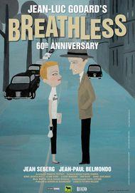 "Movie poster for ""BREATHLESS (4K RESTORATION)"""