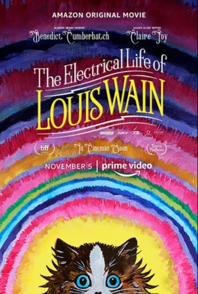 """Movie poster for """"THE ELECTRICAL LIFE OF LOUIS WAIN"""""""