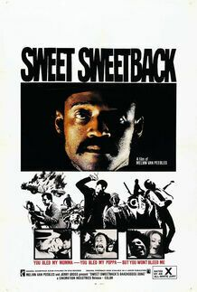 """Movie poster for """"SWEET SWEETBACK'S BAADASSSSS SONG"""""""