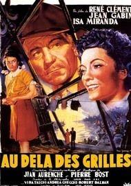"Movie poster for ""AU-DELA DES GRILLES"""