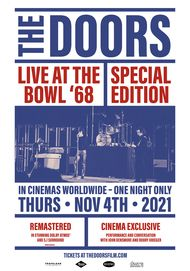 """Movie poster for """"THE DOORS LIVE AT THE BOWL '68 SPECIAL EDITION"""""""