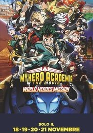 """Movie poster for """"MY HERO ACADEMIA 3 WORLD HEROES"""""""