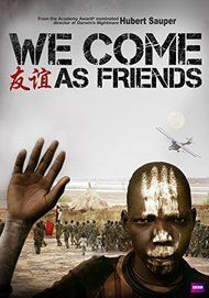 """Movie poster for """"WE COME AS FRIENDS"""""""