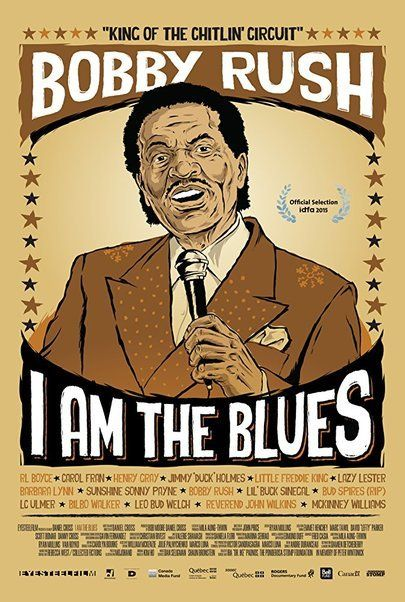 """Movie poster for """"I AM THE BLUES"""""""