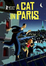 """Movie poster for """"A CAT IN PARIS"""""""