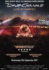 """Movie poster for """"DAVID GILMOUR LIVE AT POMPEI"""""""