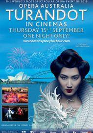 "Movie poster for ""TURANDOT: HANDA OPERA ON SYDNEY HARBOUR"""
