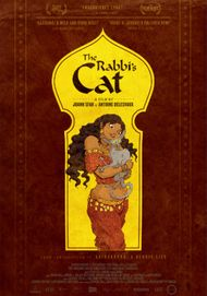 """Movie poster for """"THE RABBI'S CAT"""""""