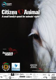 """Movie poster for """"Citizen Animal - A Small Family's Quest for Animal Rights"""""""
