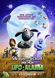 "Movie poster for ""SHAUN THE SHEEP  MOVIE: FARMAGEDDON"""