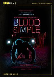 """Filmplakat für """"Blood simple"""""""