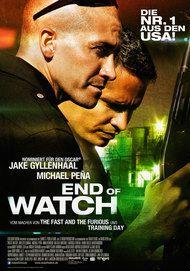 """Filmplakat für """"End of Watch """""""