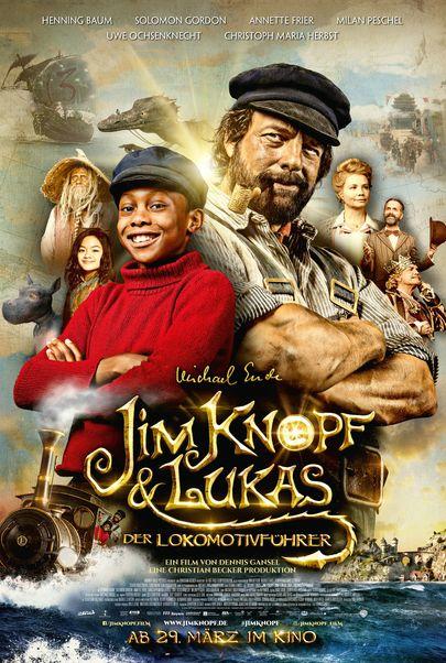 """Filmplakat für """"Jim Knopf und Lukas der Lokomotivführer"""""""